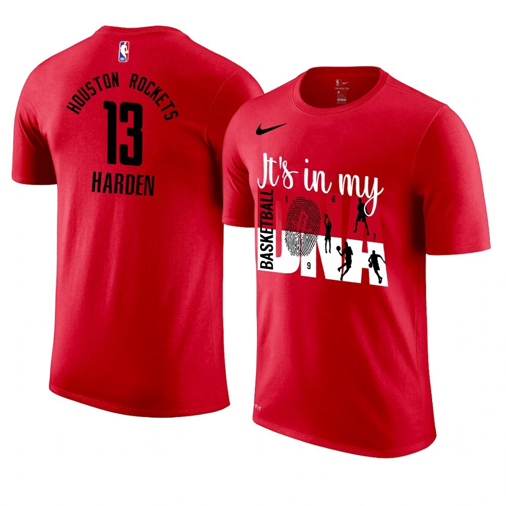 T Shirt NBA Houston Rockets DNA NO.13 James Harden Rouge