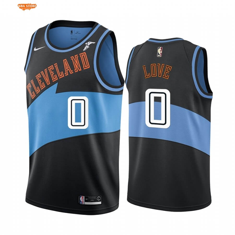Maillot NBA Earned Edition Cleveland Cavaliers NO.0 Kevin Love Noir 2019-20