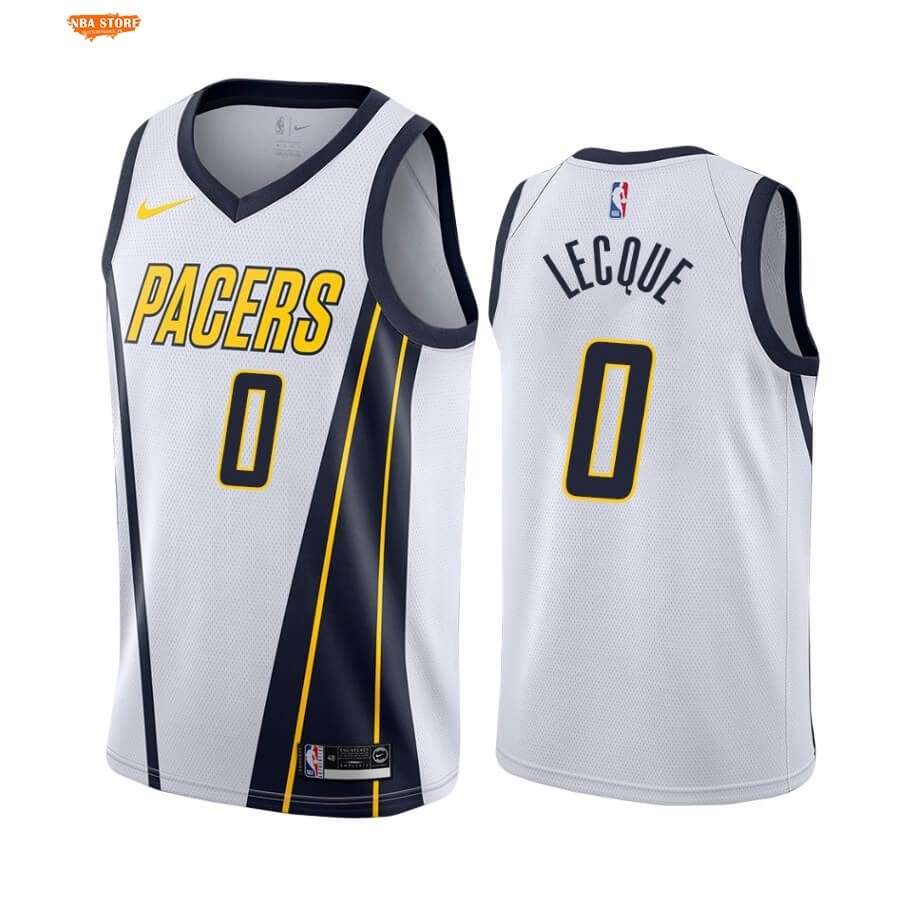 Maillot NBA Earned Edition Indiana Pacers NO.0 Jalen Lecque Blanc 2020-21