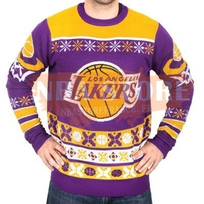 Unisex Ugly Sweater Los Angeles Lakers Jaune