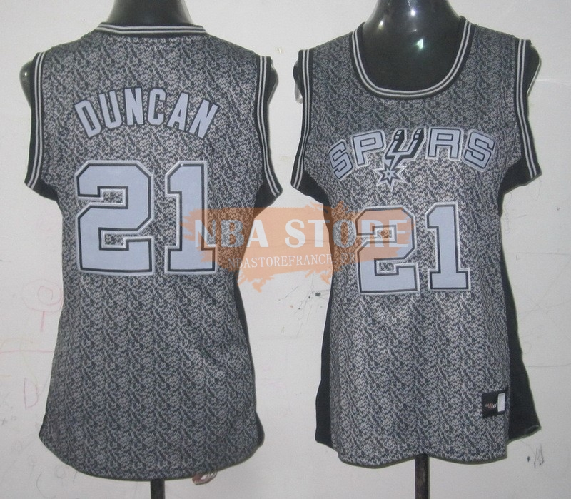 Maillot NBA Femme 2013 Static Fashion NO.21 Tim Duncan