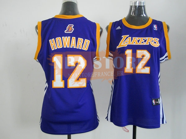 Maillot NBA Femme Los Angeles Lakers NO.12 Dwight Howard Bleu