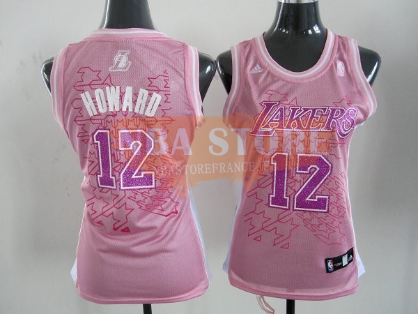 Maillot NBA Femme Los Angeles Lakers NO.12 Dwight Howard Rose