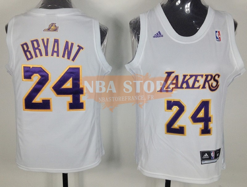 Maillot NBA Femme Los Angeles Lakers NO.24 Kobe Bryant Blanc