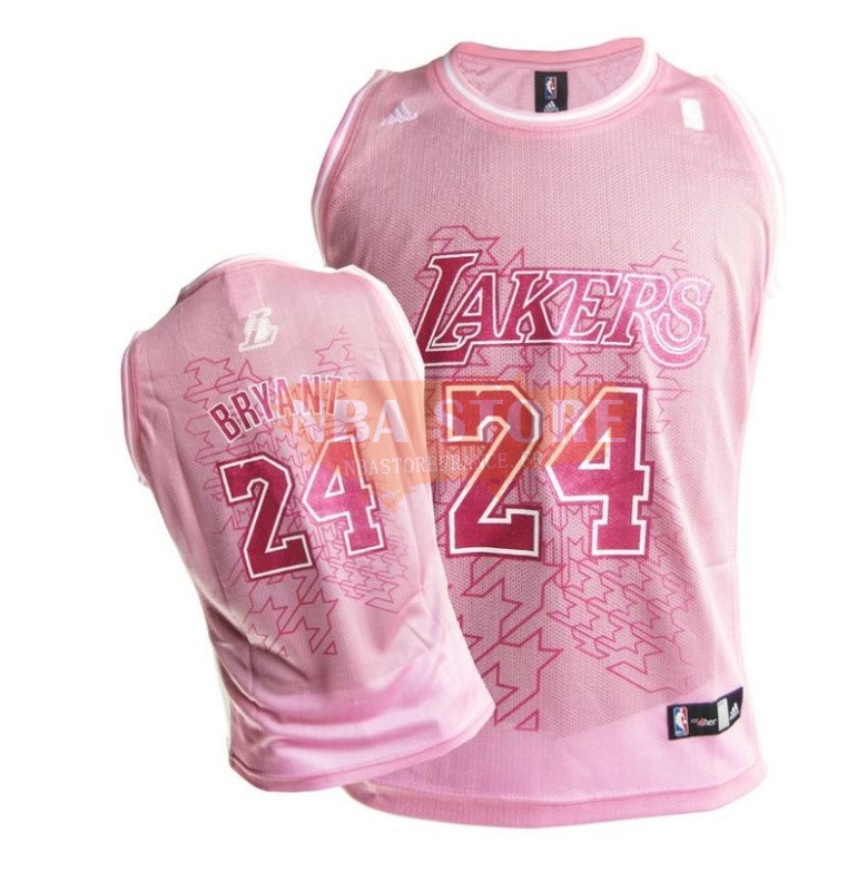Maillot NBA Femme Los Angeles Lakers NO.24 Kobe Bryant Rouge Blanc