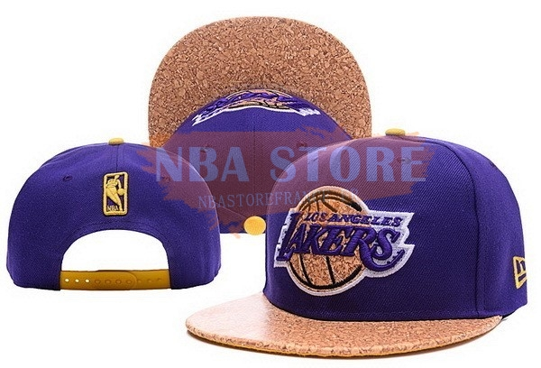 Casquette NBA 2016 Los Angeles Lakers Pourpre Jaune