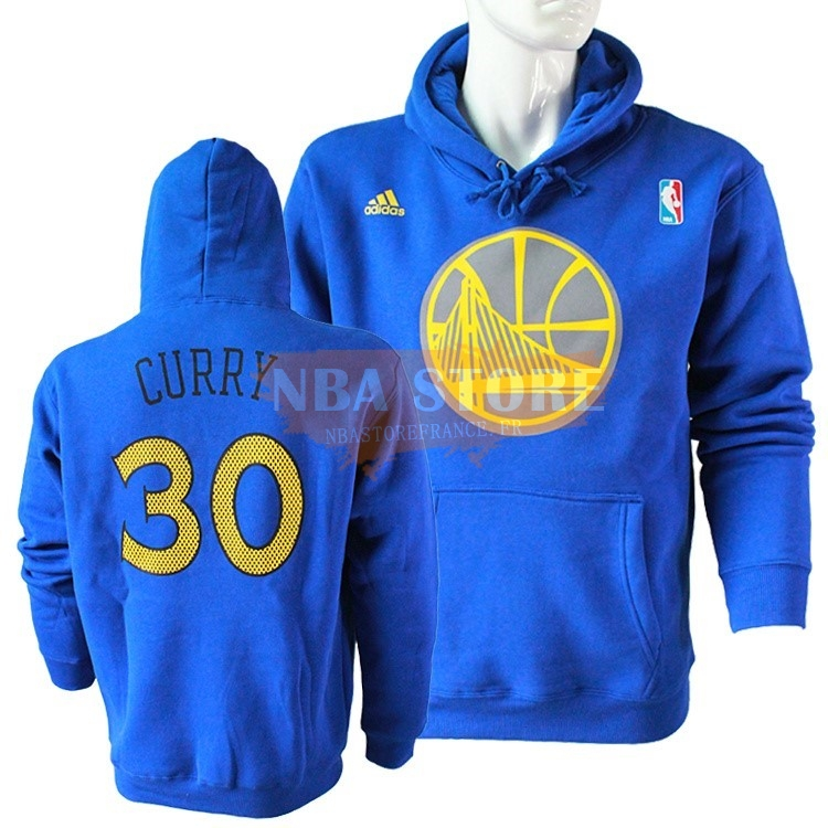 Hoodies NBA 2016 Golden State Warriors NO.30 Stephen Curry Bleu