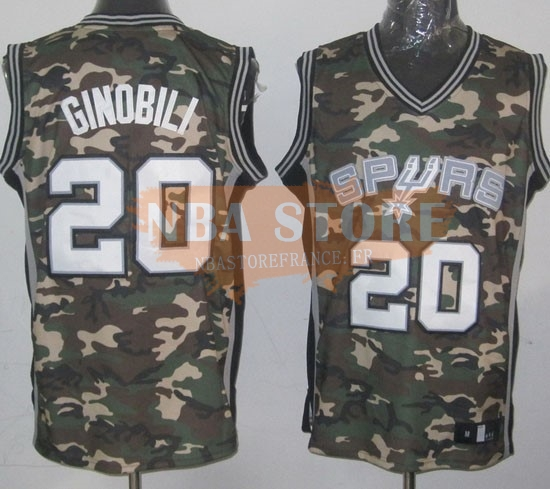 Maillot NBA 2013 Camouflage Fashion NO.20 Ginobili