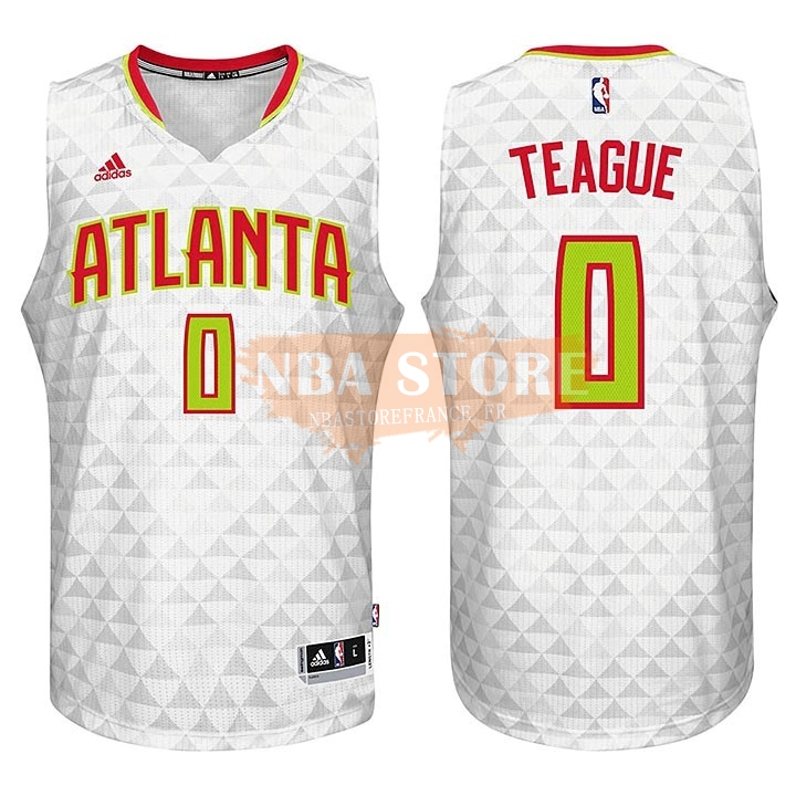 Maillot NBA Atlanta Hawks No.0 Jeff Teague Blanc