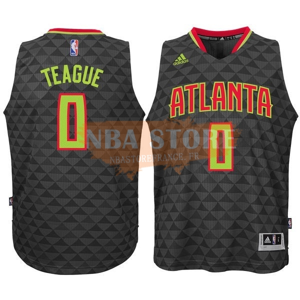 Maillot NBA Atlanta Hawks No.0 Jeff Teague Noir