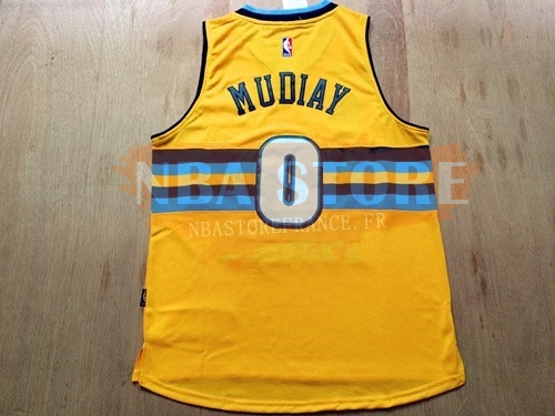 Maillot NBA Denver Nuggets NO.0 Darrell Arthur Jaune