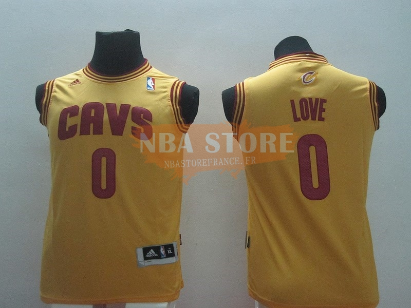 Maillot NBA Enfant Cleveland Cavaliers NO.0 Kevin Love Jaune
