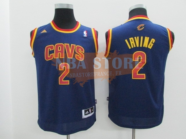 Maillot NBA Enfant Cleveland Cavaliers NO.2 Kyrie Irving Bleu