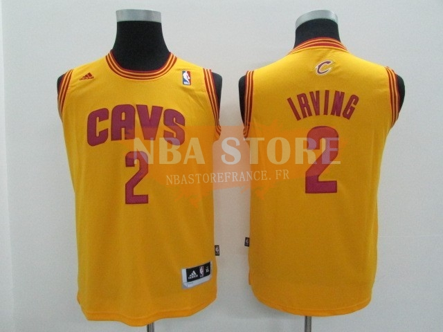 Maillot NBA Enfant Cleveland Cavaliers NO.2 Kyrie Irving Jaune