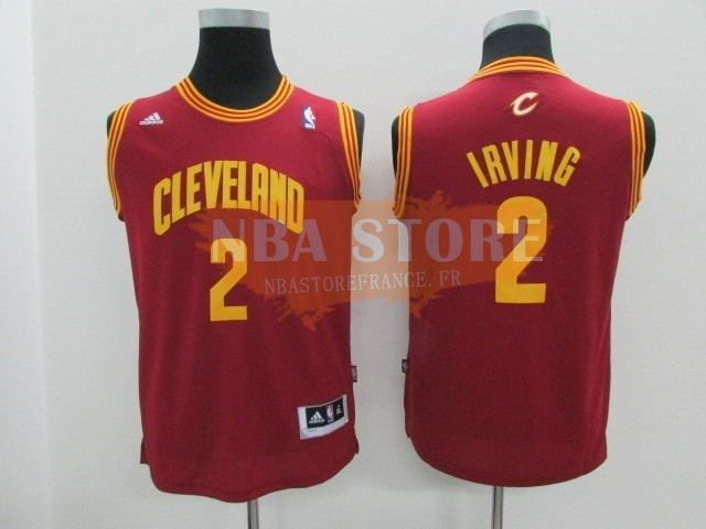 Maillot NBA Enfant Cleveland Cavaliers NO.2 Kyrie Irving Rouge
