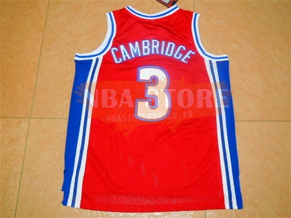 Maillot NBA Film Basket-Ball Bel Air Academy NO.3 Cambridge Rouge