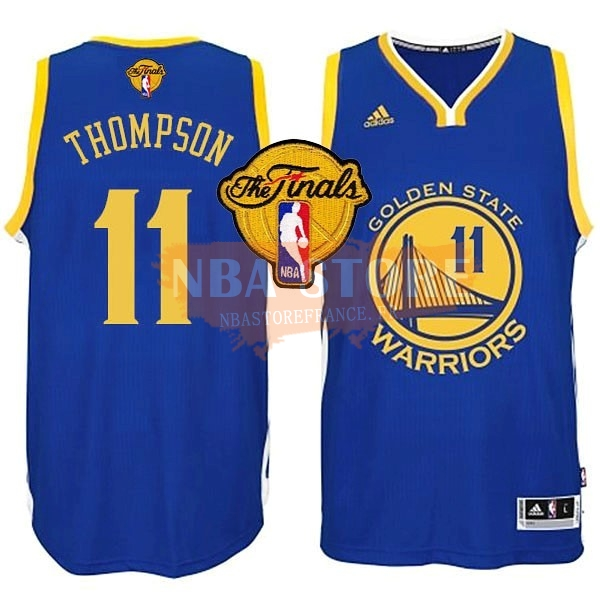 Maillot NBA Golden State Warriors NBA Finales NO.11 Thompson Bleu