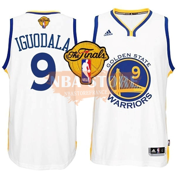 Maillot NBA Golden State Warriors NBA Finales NO.9 Iguodala Blanc
