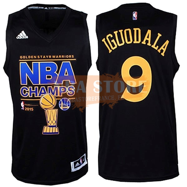 Maillot NBA Golden State Warriors NBA Finales NO.9 Iguodala Noir