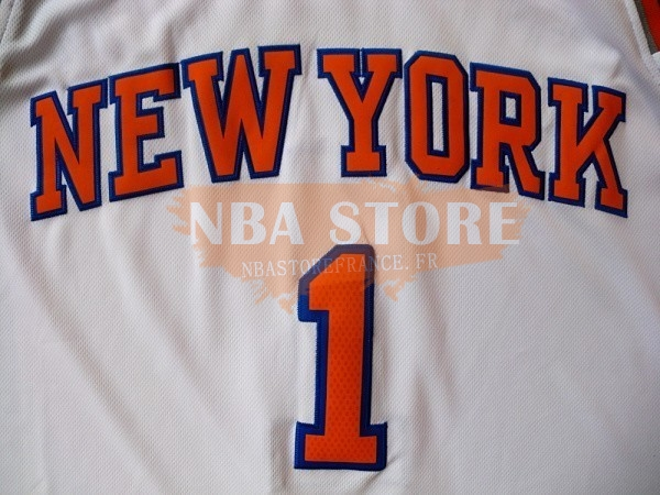 Maillot NBA New York Knicks NO.1 Amar'e Stoudemire Blanc