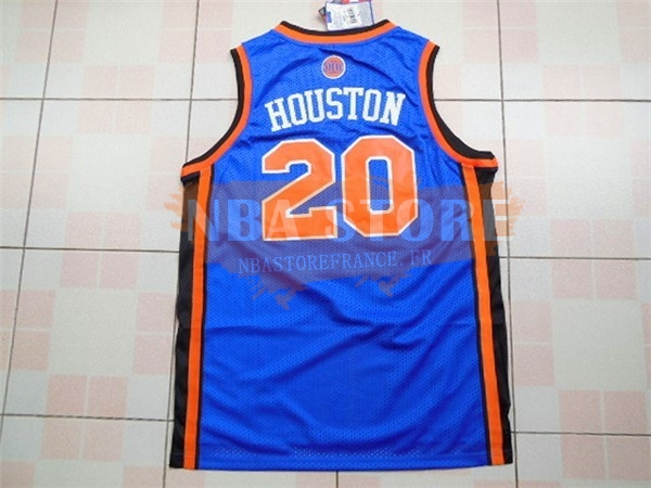 Maillot NBA New York Knicks NO.20 Allan Houston Bleu