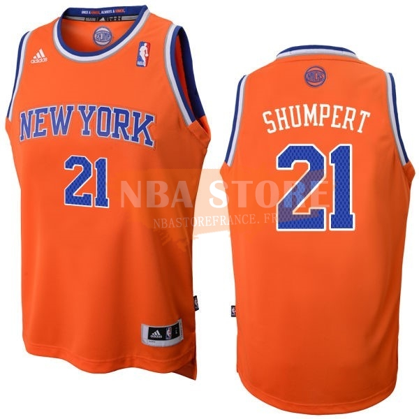 Maillot NBA New York Knicks NO.21 Iman Shumpert Orange