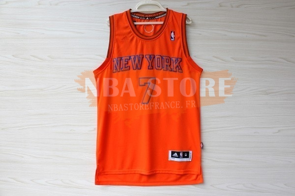 Maillot NBA New York Knicks NO.7 Carmelo Anthony Orange