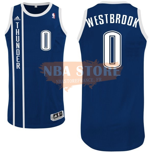 Maillot NBA Oklahoma City Thunder NO.0 Russell Westbrook Retro Bleu