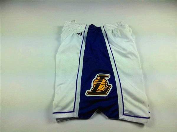 Pantalon Basket 2015 Noël Los Angeles Lakers Blanc