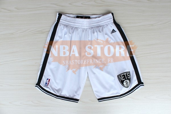 Pantalon Basket Brooklyn Nets Blanc