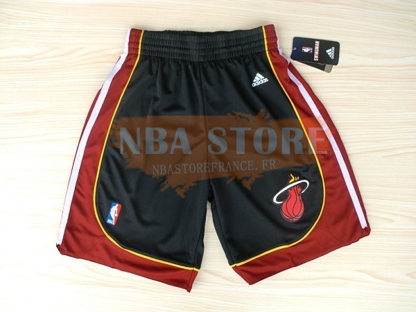 Pantalon Basket Miami Heat Noir Rouge