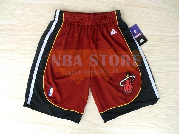 Pantalon Basket Miami Heat Rouge Noir