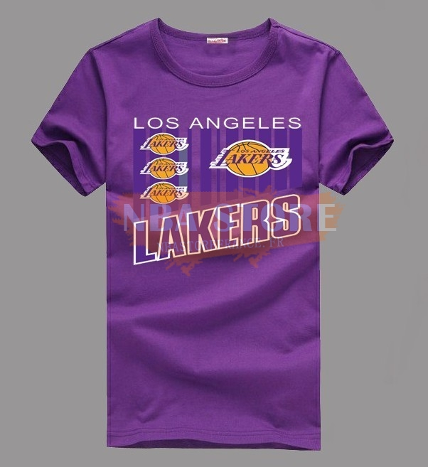 T-Shirt NBA Los Angeles Lakers Pourpre 002