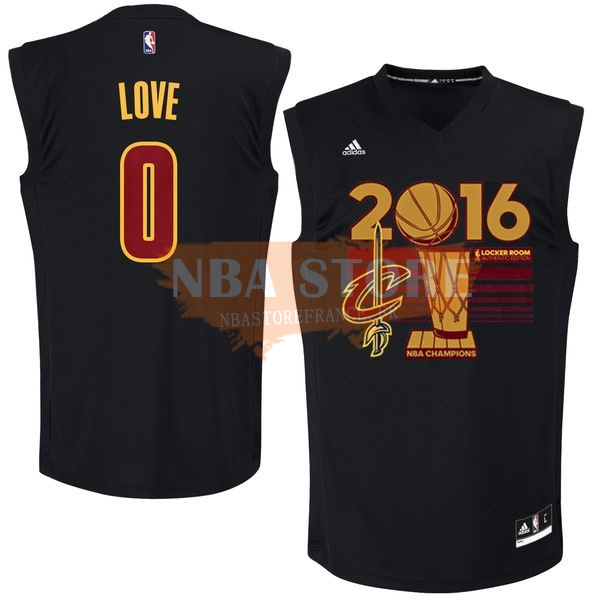Maillot NBA Cleveland Cavaliers 2016 Champions Finales NO.0 Kevin Love Noir